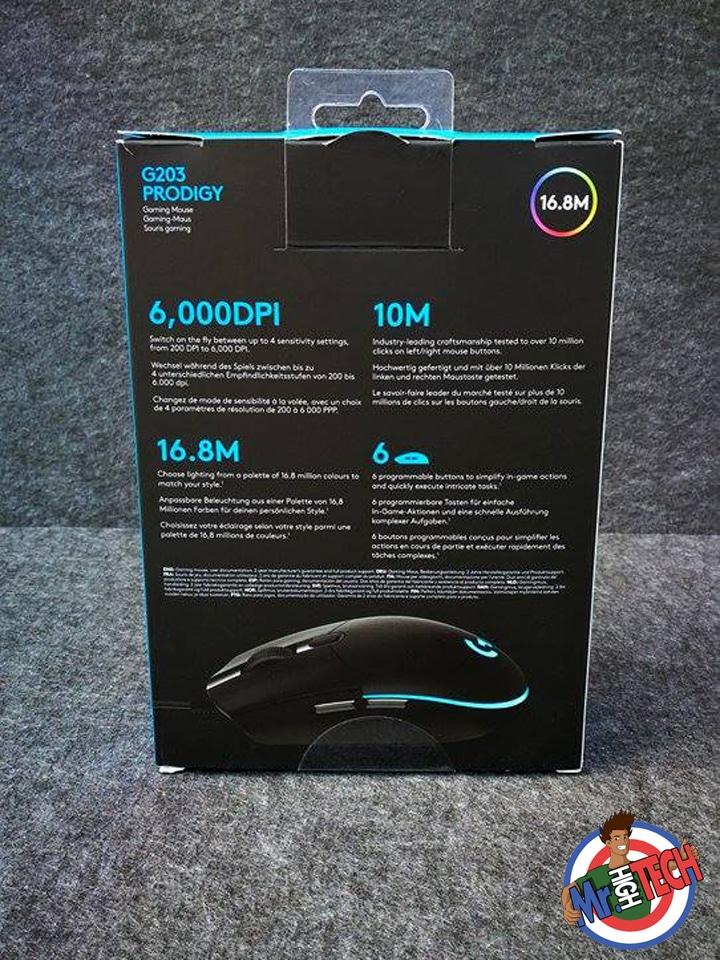 Logitech G203 Prodigy : Test de la souris gamer et Avis complet