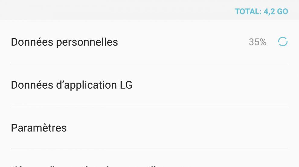 Ecran LG G4
