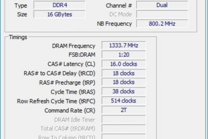 crucial cpuz memoire ram rgb a 1333 avec cg