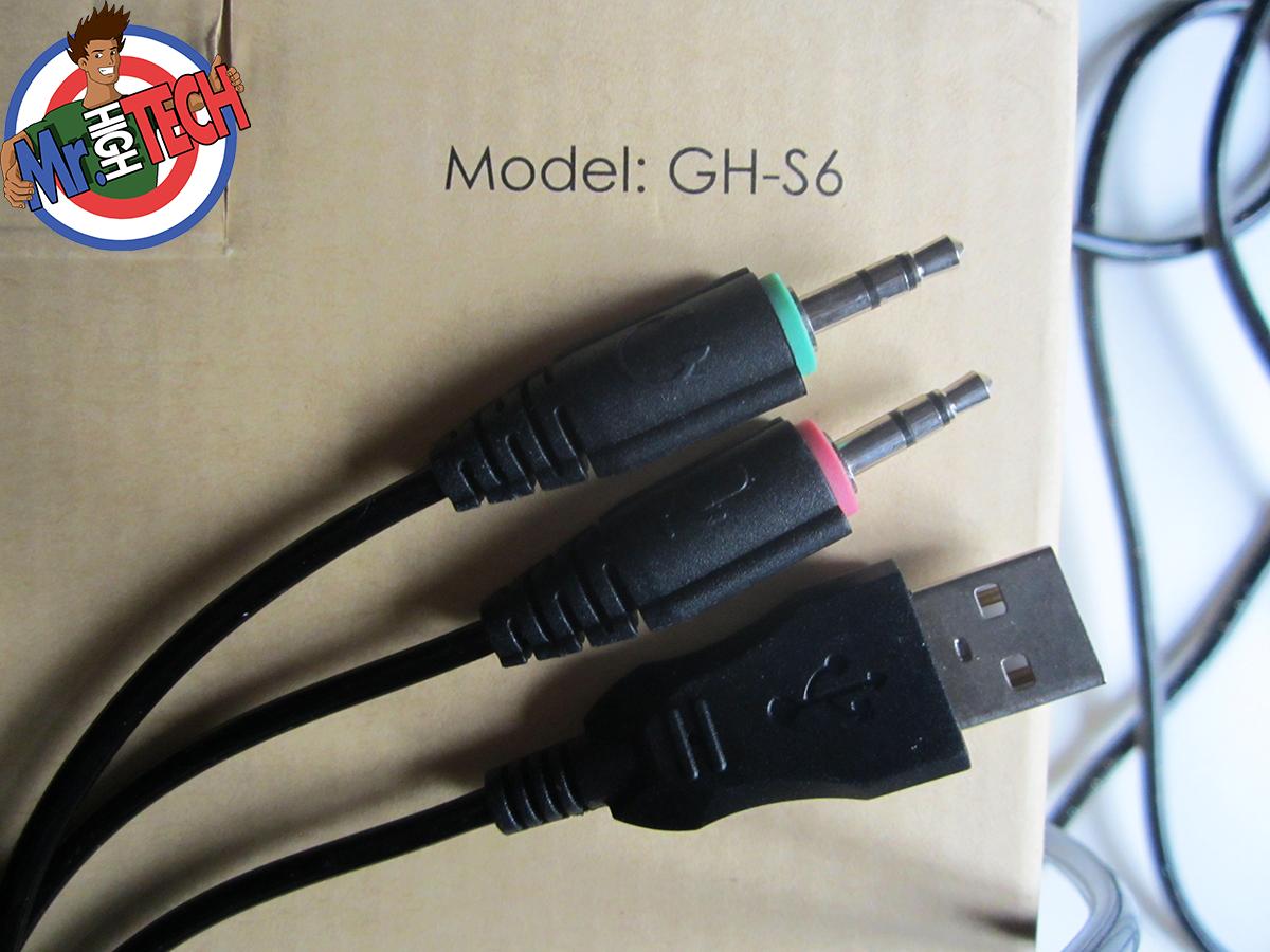 Prise jack et USB du casque Aukey GH-S6