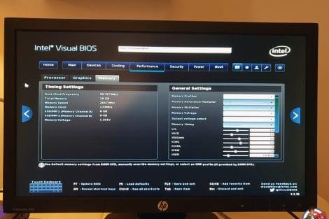 BIOS NUC Intel Hades Canyon NUC8i7HVK