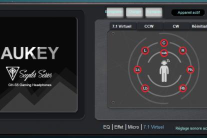 logiciel aukey casque