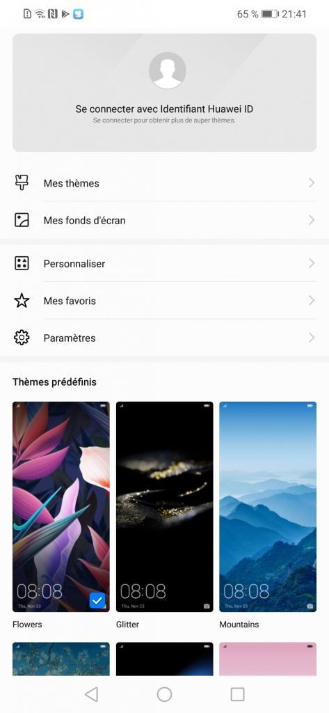 interface Huawei Mate 20 Lite