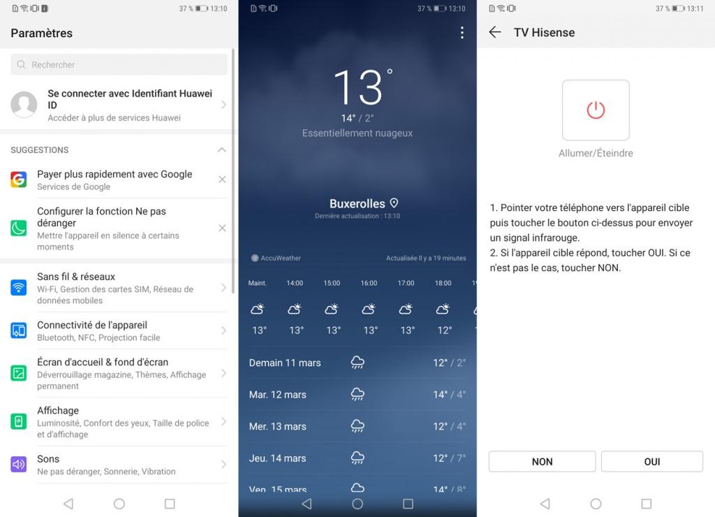 interface Huawei Mate 20 Pro