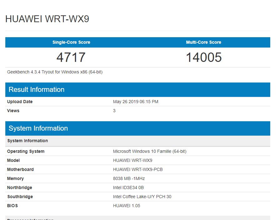 benchmark Huawei MateBook 13