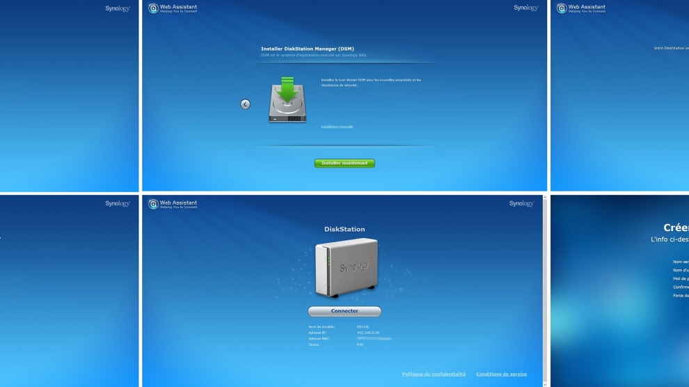Nas Synology screens pas a pas 1