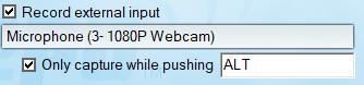 Interface du logiciel Fraps, cadrée sur la fonctionalité du PTT