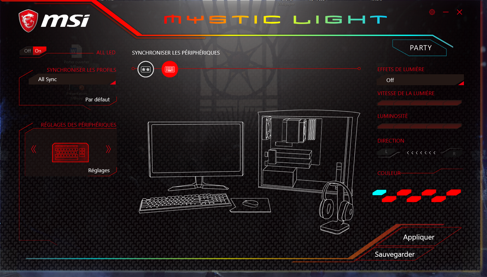 msi vigor GK70 mystic light
