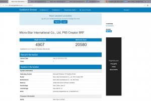 benchmark msi p65 creator 8RF