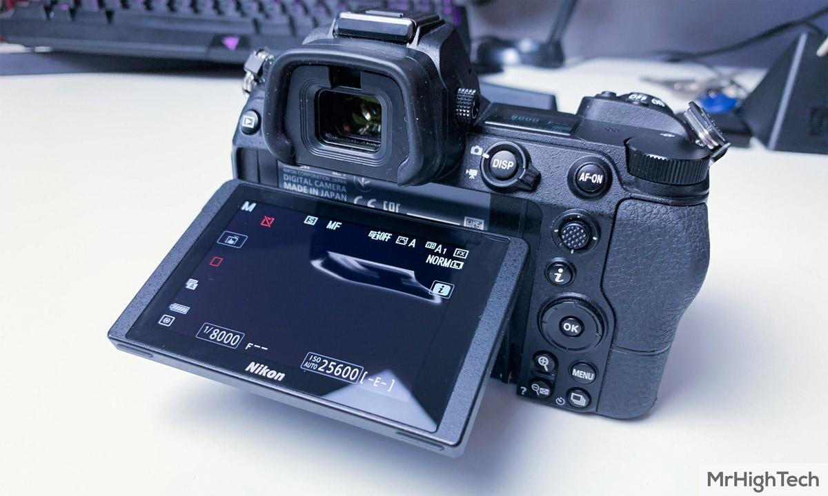 Nikon Z7 écran