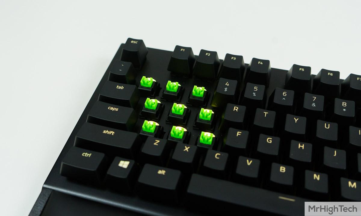 Razer blackwidow elite switchs razer green