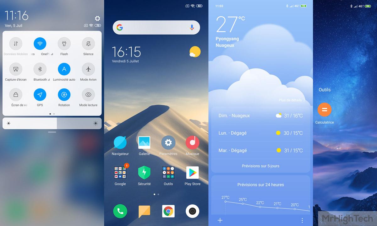 Interface MIUI sur Xiaomi Mi 9 SE