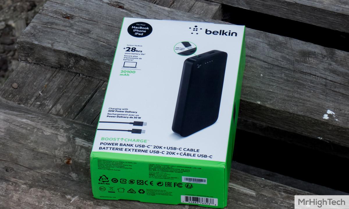 Boîte d'emballage de la Belkin Boost Charge