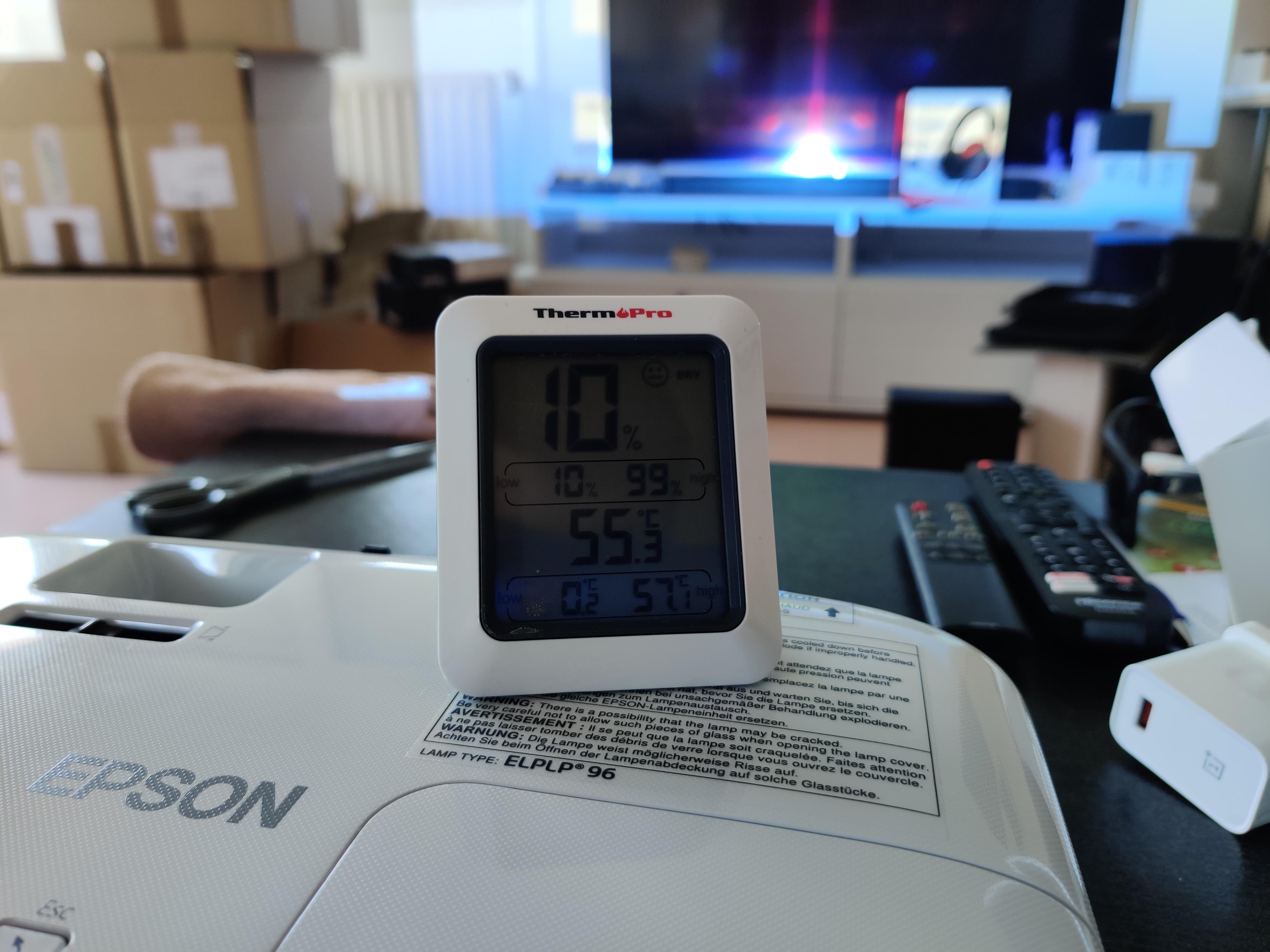 epson eh-tw650 température
