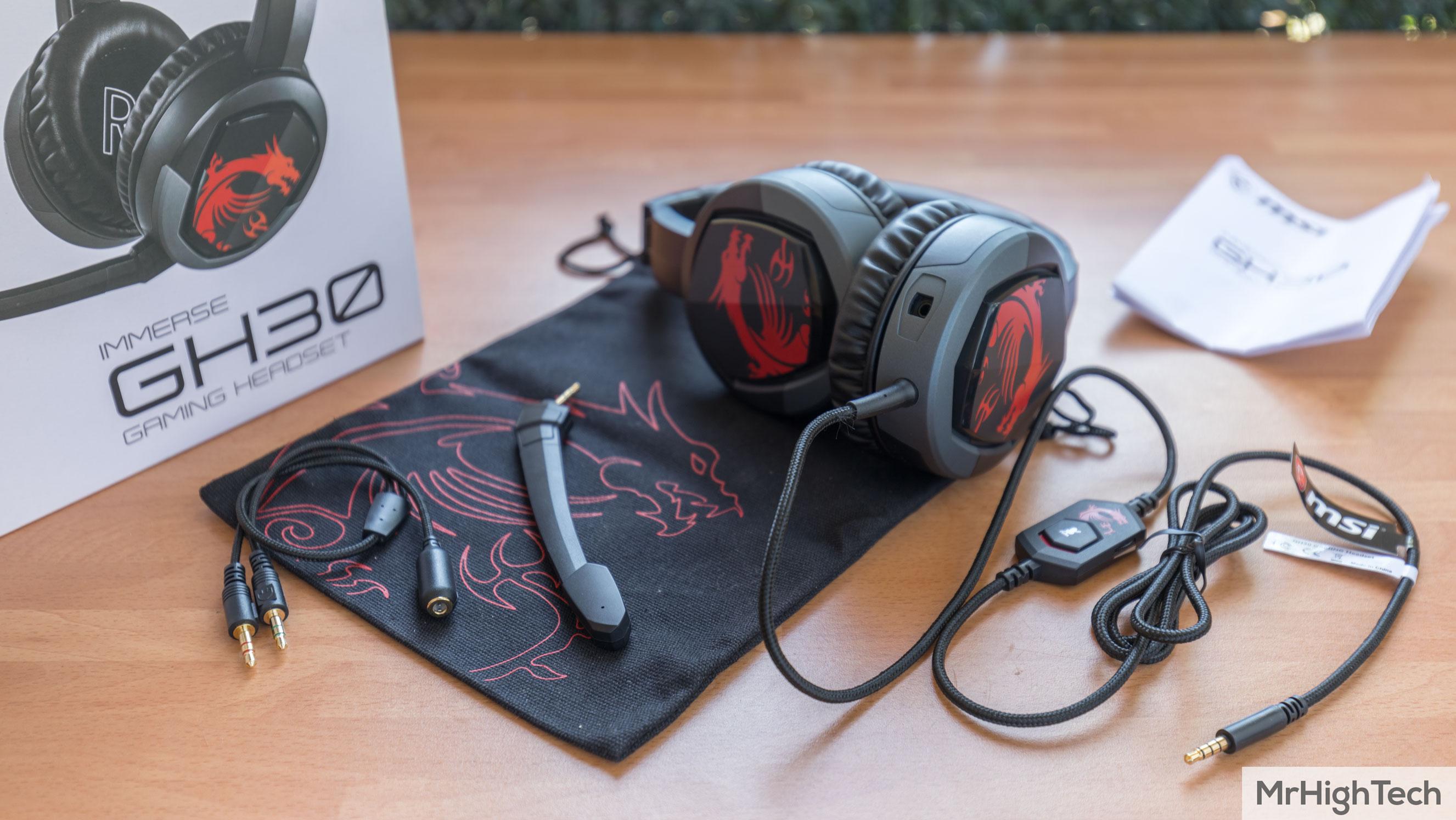 MSI Immerse GH30 : Test du casque gamer nomade et Avis complet