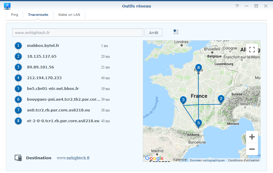 synology mr2200ac traceroute