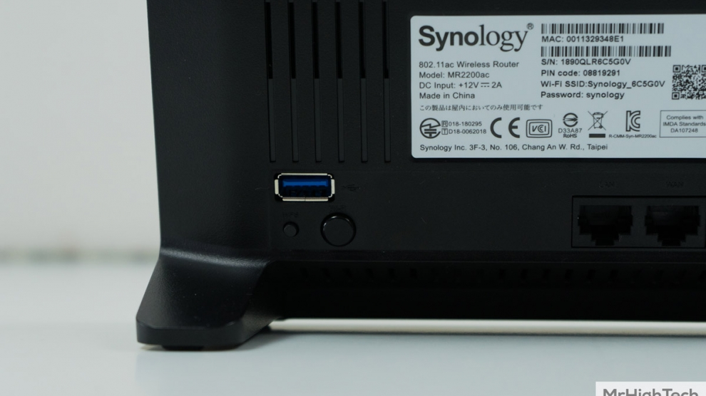 synology mr2200ac connectique