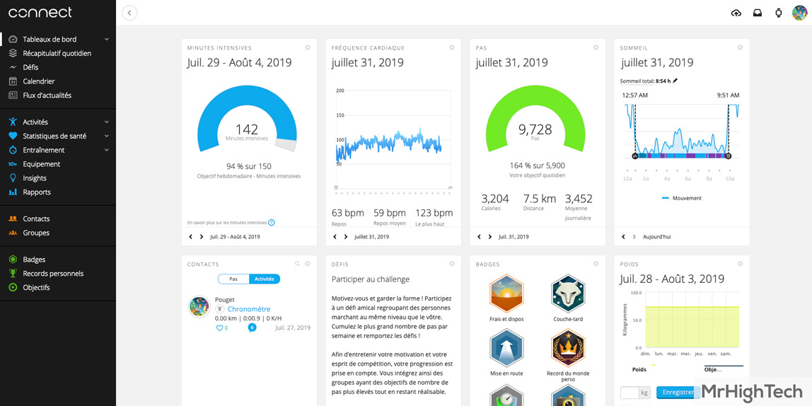 Garmin Connect Ordinateur