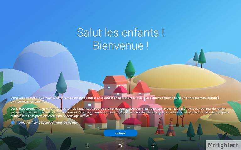"""Samsung Galaxy TabA 10.1"""" Mode Enfant"""